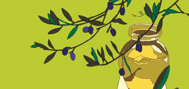 Dessin d'huile d'olive